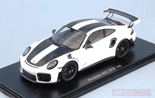 New Spark Model S7629 Porsche 911 GT2 RS WEISSACH Package 2018 White/Black 1:43