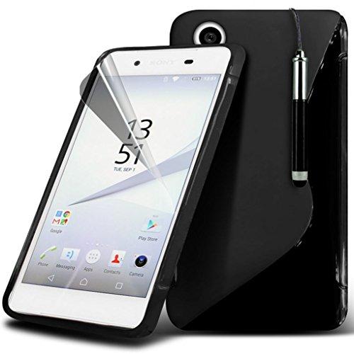 Étui pour Sony Xperia Z5 Premium / Sony Xperia Z5 PREMIUM DUAL Titulaire de téléphone Case voiture universel Mont Cradle Dashboard & pare-brise pour iPhone yi -Tronixs Wave Gel + Pen ( Black )
