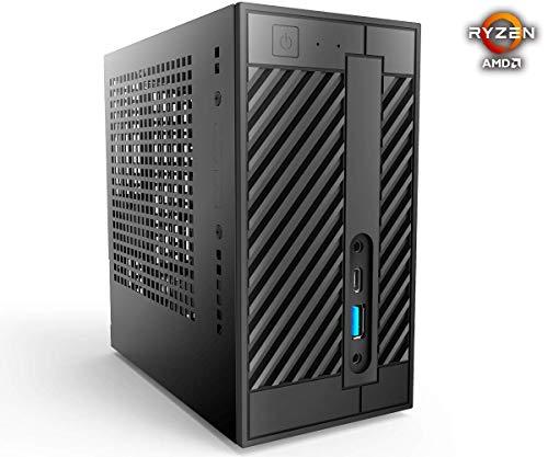 DeskMini Edition mit AMD Athlon 200GE 2x 3,2Ghz, 240GB SSD Festplatte, 8GB DDR4 Arbeitsspeicher, Grafik AMD VEGA VGA/HDMI/DP, Sound, 1000Mbit LAN, WLAN, Windows 10 Pro 64Bit
