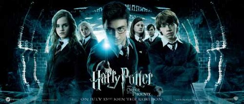 Click for larger image of Harry Potter and the Order of the Phoenix Poster Movie UK Insert 14 x 36 In - 36cm x 92cm Daniel Radcliffe Rupert Grint Emma Watson Helena Bonham Carter Robbie Coltrane Ralph Fiennes