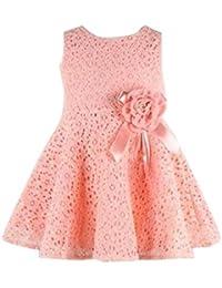 Vestido de niñas ,❤️ Manadlian Bebé Niñas NiñOs Lace Vestido Floral Princesa Vestido De Fiesta
