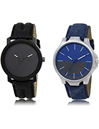 The Shopoholic Black Blue Grey Combo New Stylist Latest Black And Blue And Grey Dial Analog Watch For Boys Stylish...