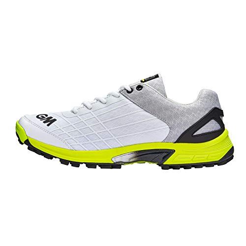 GM Cricket-Schuh, Original, Gummi, Junior, Weiß/Gelb/Schwarz, Größe 1