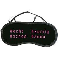Schlafmaske mit # - personalisiert mit Hashtags - schwarz - für Sie - Frauen - Mädchen - deinzigartig preisvergleich bei billige-tabletten.eu