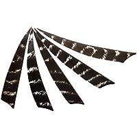 MagiDeal Escudo Flechas De Plumas Naturales Fletching para Tiro Caza DIY Accesorios de Deportes - Negro Blanco, 4 Pulgadas