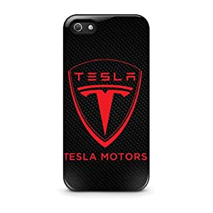 Coque iPhone 5/5s - Tesla Motors Logo Electric Cars iPhone 5 5s plastique dur Black Coque