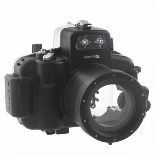 Neewer 10075205 Unterwasser Kamera-Abdeckung bis 40 m für Nikon D7000 (18-55 mm)