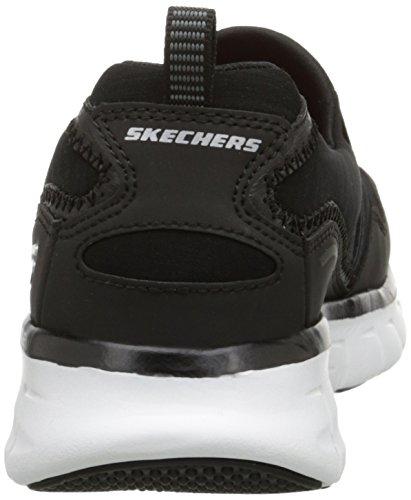 Skechers SynergyScene Stealer, Baskets Basses Femme, Schwarz, Various Noir (BKW)