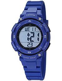 Calypso - K5669/6 - Montre Mixte - Quartz - Digitale - Alarme - Chronomètre - Bracelet plastique Bleu