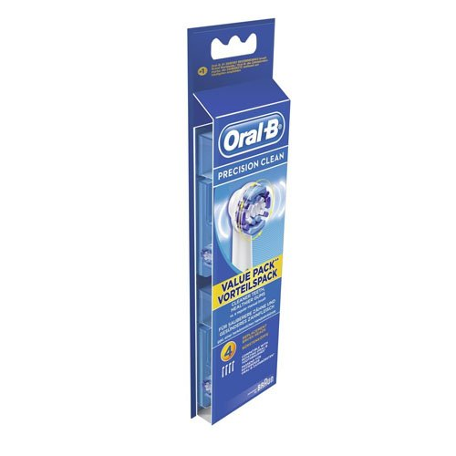 Oral-B Cabezales de Recambio para Cepillo de Dientes Eléctrico Precision Clean - 4Unidades