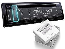 JVC KD-T801BT 1-DIN Autoradio mit Bluetooth CD MP3 für Citroen C3 Pluriel H 2003-2010 schwarz