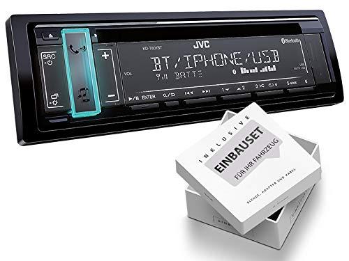 JVC KD-T801BT 1-DIN Autoradio mit Bluetooth CD MP3 für Jeep Cherokee/Liberty KJ 2001-2008 schwarz