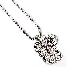 701169a959d Xin Pang Femme Collier En Argent 925 Bijoux Pour Femmes Cadeaux Pour Hommes  Rue Rétro Triangle