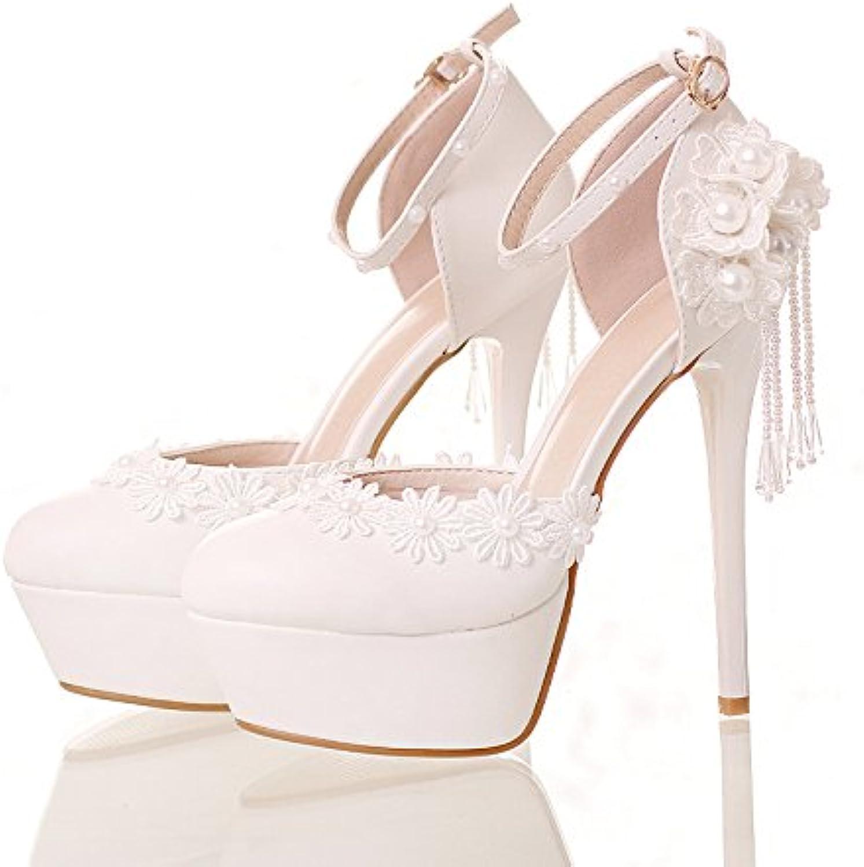 XIE Sscarpe da sposa femminili   Principessa e sposa sposa sposa   Cinturino alla caviglia   Tacco Stiletto   Piattaforma... | Lavorazione perfetta  bbaa57