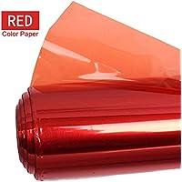 Selens 40x50cm Color Gel Filtro Papel para Luz de Estudio Luz de Cabeza Roja Fotografía - Rojo