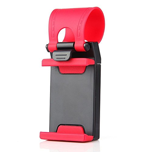 MStick Car Steering Wheel Retractable Silicon Strap Mobile Phone / Stereo Remote Socket Stand Holder Clip  available at amazon for Rs.99
