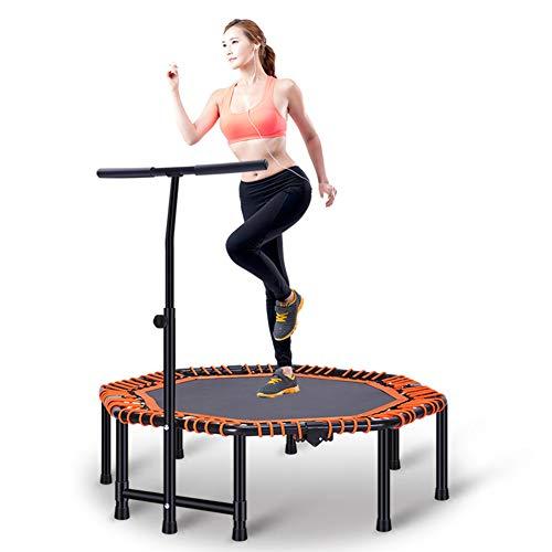 Svna trampolino fitness con manubri sportivi e elastici di lunga durata, trampolino da fitness pieghevole per bambini adulti