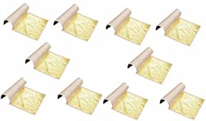 100%  comestibles feuille d'or - 10 feuilles