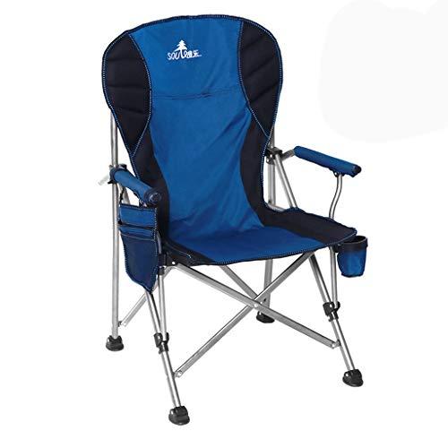 1 sedia pieghevole da pesca/da campeggio con portabicchieri e borsa porta oggetti