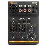Power Dynamics PDM-D301 • 3-Kanal-Mixer • USB-Mischpult • 2-Wege-Equalizer • integrierter USB-Soundkarte • Stereo- und Mono-Eingangskanal • Master-Regler • Gain-Regler • Balance-Regler • schwarz