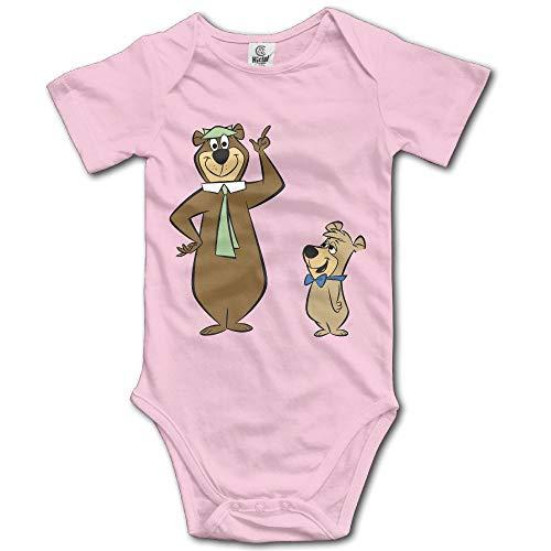 Yogi Bear Logo Unisex Boys Girls Short Sleeve Bodysuit Snapsuit Shirt Onesies 0-3 Months (Robin Und Batman Onesies)