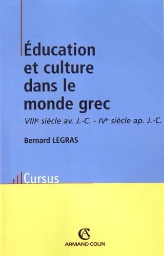 Education et culture dans le monde grec
