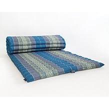 Leewadee Tatami Tai Enrollable, 200x76x5 cm, Capok, Azul Claro