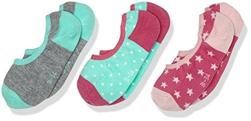 hen Füßlinge & Sneakersocken Junior Fashion Footie 3p, 3er Pack, Rosa (Super Pink 51), 35-38 (35/38) (Rosa Footies)