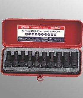 "Preisvergleich Produktbild 10 Piece 3 / 8"" Dr. Metric Hex Head Driver Set by Genius Tools International Ltd."