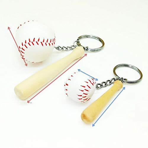 BESPORTABLE 2 stücke Baseball schlüsselanhänger Sport Softball schlüsselanhänger Charme anhänger dekorative schlüsselanhänger Tasche anhänger größe s und l