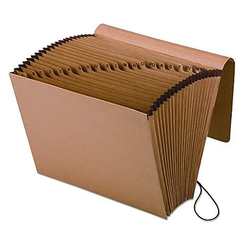 Pendaflex Essentials Kraft Expanding Alphabetic Files, 21 Pockets, Letter 1/Each (K-17A-OX)