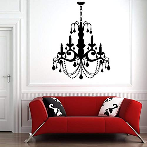 Yologg 59X78 Centimetri Impermeabile In Pvc Grande Vecchia Moda Candela Lampadario Decalcomanie In Vinile Adesivi Home Decor Per Soggiorno