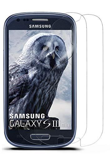 moex 2X Samsung Galaxy S3 Mini | Schutzfolie Klar Bildschirm Schutz [Crystal-Clear] Screen Protector Display Handy-Folie Dünn Bildschirmschutz-Folie für Samsung Galaxy S3 Mini S III Bildschirmfolie