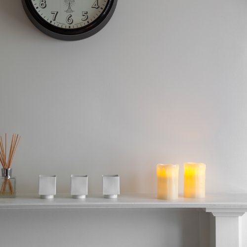 Lights4fun - Conjunto de 2 Velas LED de Cera con Temporizador para Uso en Interiores
