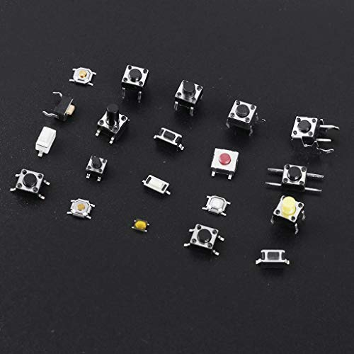 BIlinli 28 Types Tactile Push Button Touch Switches Remote Keys Surface Mount Kit Switch Tactile Push