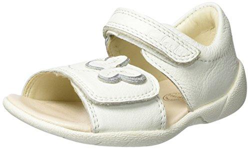 Clarks Baby Mädchen Kiani Sun Fst Lauflernschuhe, Weiß (White Leather), 21 EU