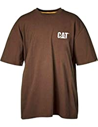 Caterpillar - T-shirt - Manches Courtes - Homme gris gris Small -  marron - X-Large