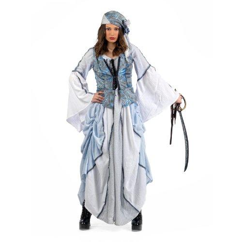 PIRATIN Seeräuberin Matrose Damen Kostüm Fasching Braut aus Kleid mit Tuch - XS (Commodore Norrington Kostüm)