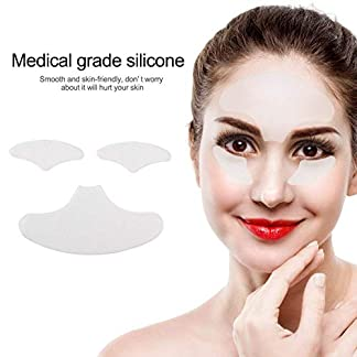 Parches de arrugas para la cara, antiarrugas, para la frente y los ojos, arrugas, colágeno, líneas de colágeno, reutilizables, antienvejecimiento para una elasticidad de la piel rejuvenecedora.