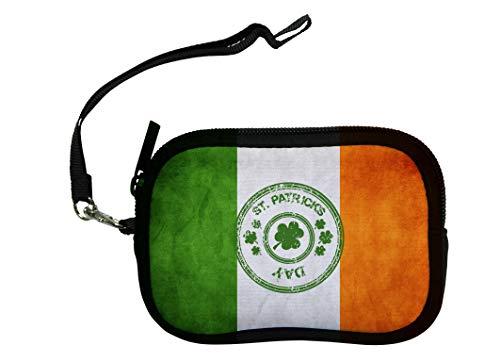 ZMvise Damen Handtasche Happy St. Patrick's Day Glücksbringer irische Flagge Lady Portemonnaie Handtasche Aufbewahrung Karte Tasche Mini Wallet Polyester ()