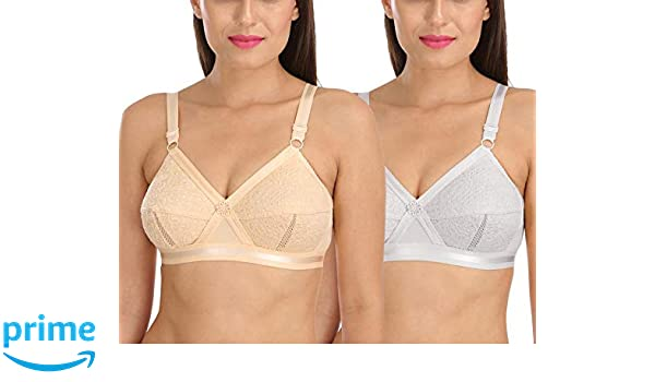 832b2ff62 Sona Women s Delicate Super Everyday Plus Size Cotton Full Coverage Non  Wired