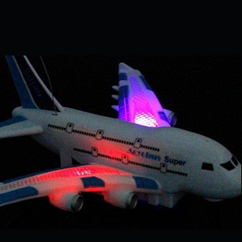 Mamum Fernbedienung Flugzeug mit einem leichten Musik (33x 25x 7cm), Air Bus Modell-Fernbedienung Flugzeug mit Licht Musik Kinder Spielzeug Geschenke