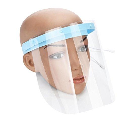 Safety Gesichtsschutzschirm, Küche Kochen, doppelseitige Anti-Fog Anti-Öl Splash klar,Schutzmaske Gesichtsschutz Visier , Augenschutz -