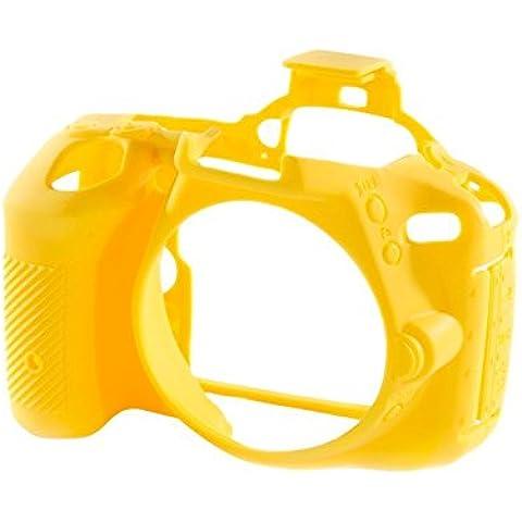 Easycover ECND5500Y - Funda de silicona para Nikon D5500, color amarillo