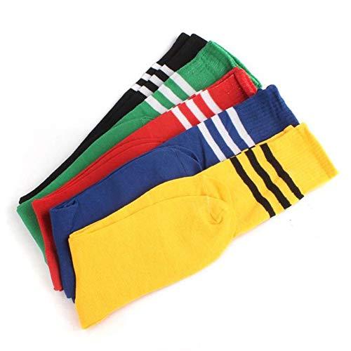 fe mit Streifen/Fußballstrümpfe/Sport - Damen/Herren/Unisex - Cheerleader - Größe 38-42 (Gelb) ()
