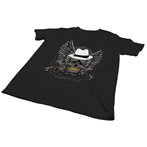 ZDesign Undefeated T-Shirt | Unbesiegt | Bedruckt printed Motiv Logo | Größe XS-4XL | Ideales Geschenk Schwarz