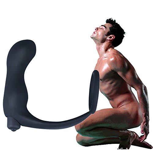 VonVonCo El Punto G Impermeable del SilicóN Estimula Los Juguetes del Sexo del Vibrador Anal del Massager De La PróStata (Negro)