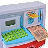 #8: RIANZ Battery Operated LCD Display Kids Money ATM money cash deposit machine for Boys and Girls