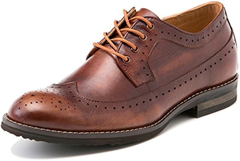 Männliches Echtes Leder Schnüren Sich Oben Brogue Schuh Männer ...