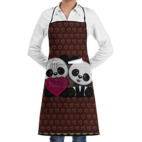 Drempad Schürzen Panda Bear Wallpaper Bib Apron Chef Apron - with Pockets for Male and Female,Waterproof, Resistant to Droplets, Durable, Machine Washable, Comfortable, Easy Care Apron (Rot Care Bear)